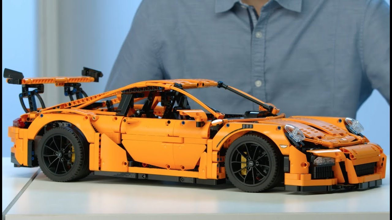 porsche 911 gt3 rs lego technic 42056 designer video. Black Bedroom Furniture Sets. Home Design Ideas