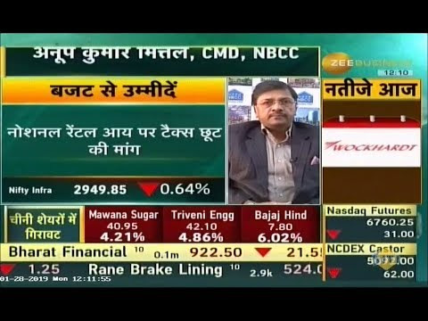 Dr. Anoop Kumar Mittal, CMD, NBCC talks about Budget Expectation with Zee Business.