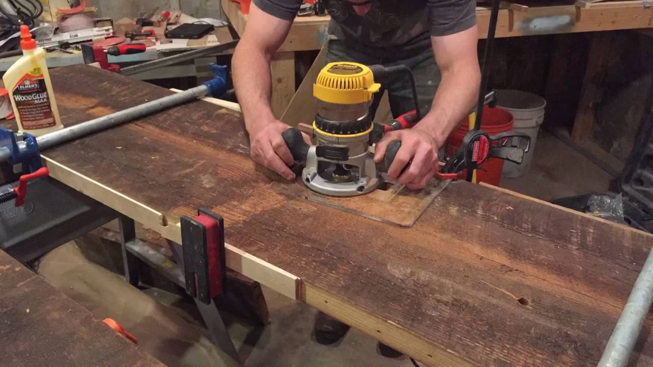 Reclaimed Wood Trestle Table Build, Part 3   YouTube