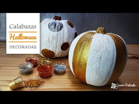 Como decorar calabazas de halloween youtube for Como decorar una calabaza original