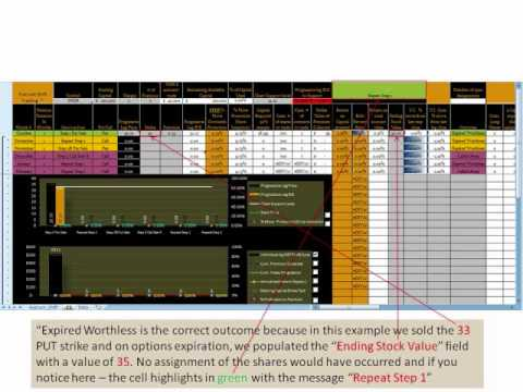 Options trading excel