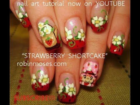 Nail Art Strawberry Shortcake Nails Design Tutorial