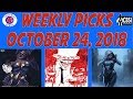 Weekly Picks for New Comic Books Releasing October 24, 2018