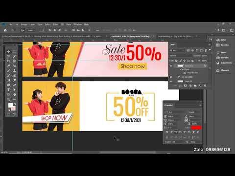 Photoshop - Hướng dẫn chi tiết về thiết kế banner thời trang
