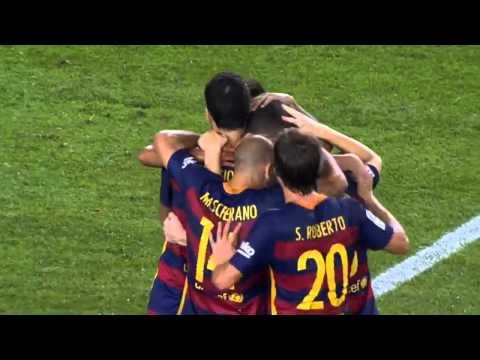 Fc Barcelona vs. Malaga CF 1-0 2015 Vermaelen Goal La Liga HD