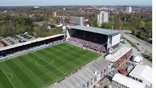 Nussli constructed a new east grandstand for the soccer club holstein kiel during season. first with standing space 3900 fans was erec...