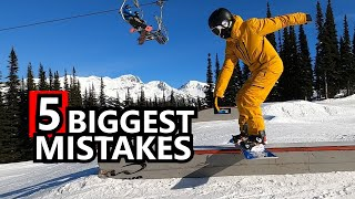5 Biggest Snowboard Trick Mistakes & Fixes