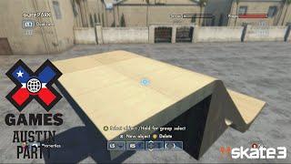 Skate 3 - Xgames Austin 2015 Mega Ramp Park Build - Part 1