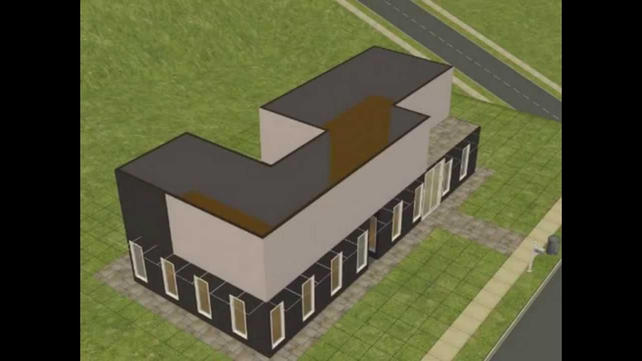 Construire une maison moderne dans les sims 2 youtube for Construire une maison les sims 3
