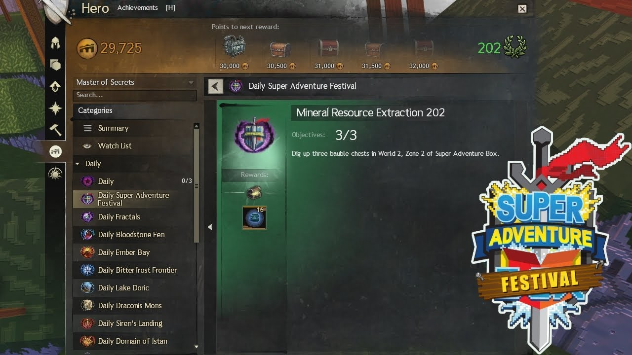 Mineral Resource Extraction 202 - SAB Daily - Guild Wars 2