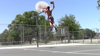 6'1 Isaiah Rivera Dunk Session :: 9'9 Rim :: 720 Attempt Video