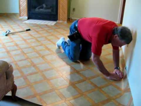Installing Sheet VinylLaying Vinyl YouTube - Installing sheet vinyl flooring