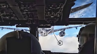 CV-22 Osprey Aerial Refueling With KC-10 • Cockpit View