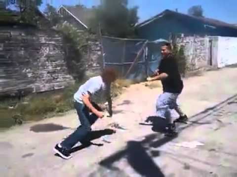 White boy gets knocked out