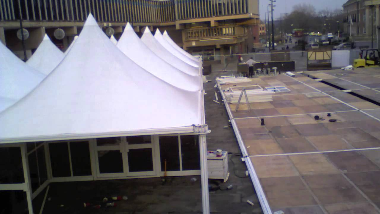 derby christmas ice rink build time lapse 2014 youtube