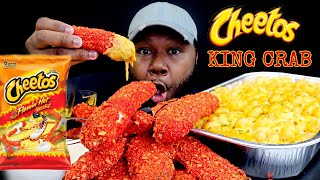FLAMING HOT CHEETOS KING CRAB LEGS SEAFOOD BOIL  MAC + CHEESE  MUKBANG 먹방  Eating Show