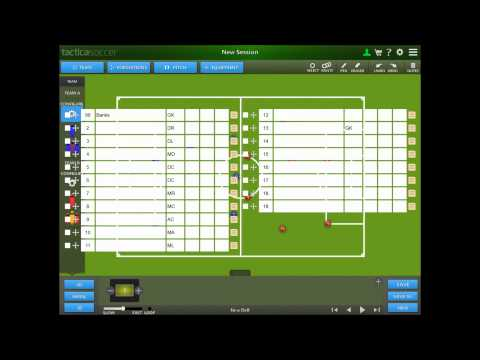 Personalise Your Team and Squad - using the app TacticaSoccer