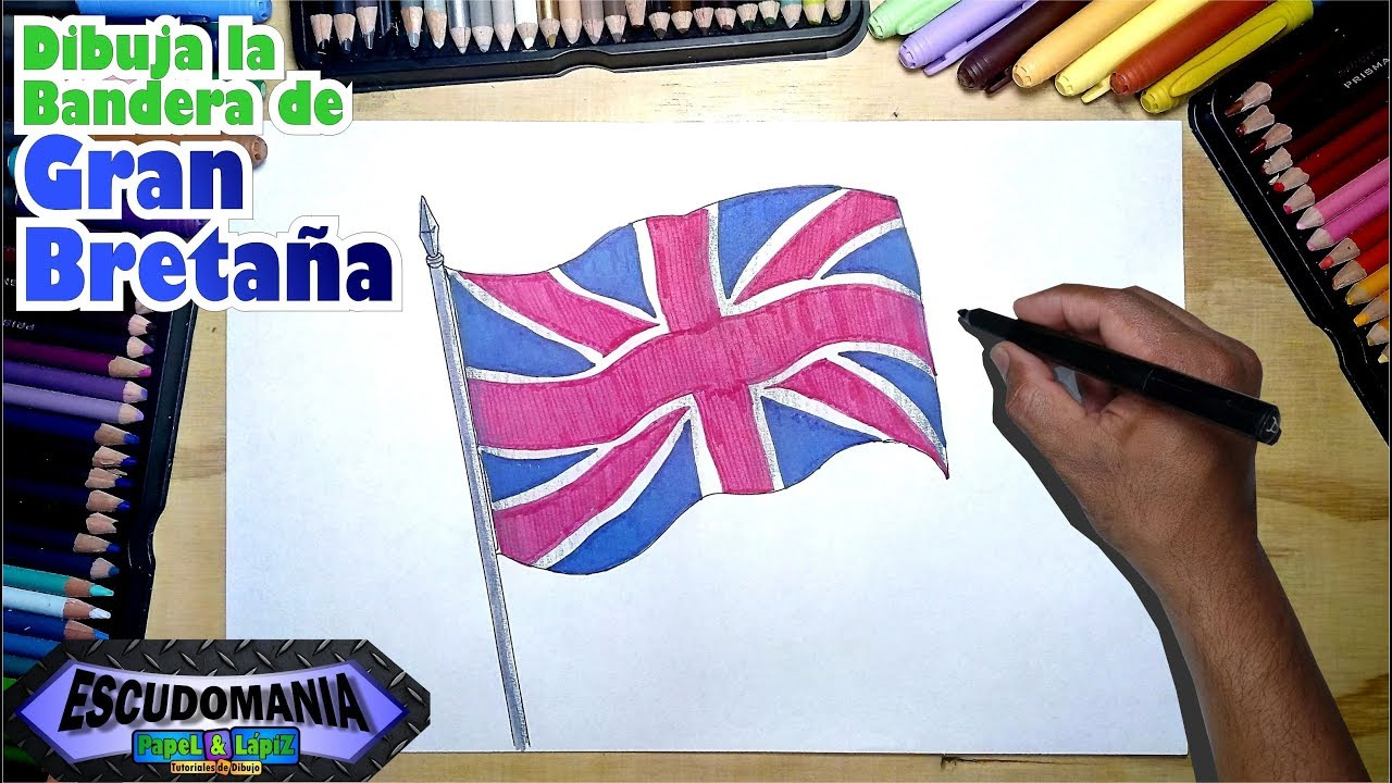 Dibuja Y Pinta La Bandera Del Reino Unido De Gran Bretaña Youtube