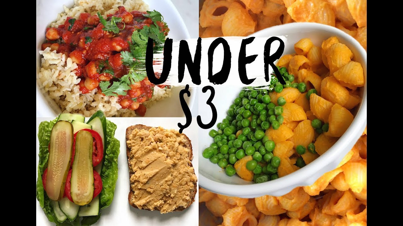 Cooking Vegan On A Budget Healthy Meals Youtube