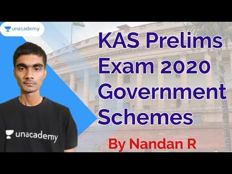 KAS Prelims Exam 2020 | Government Schemes | KAS / SDA / FDA / KPSC | Nandan R