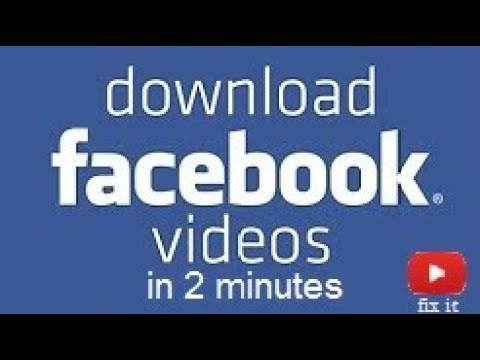Download Facebook video to Computer Without Software 2018