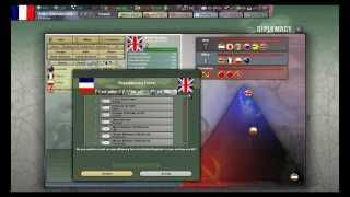 Hearts of Iron III Gameplay footage - France & Diplomacy