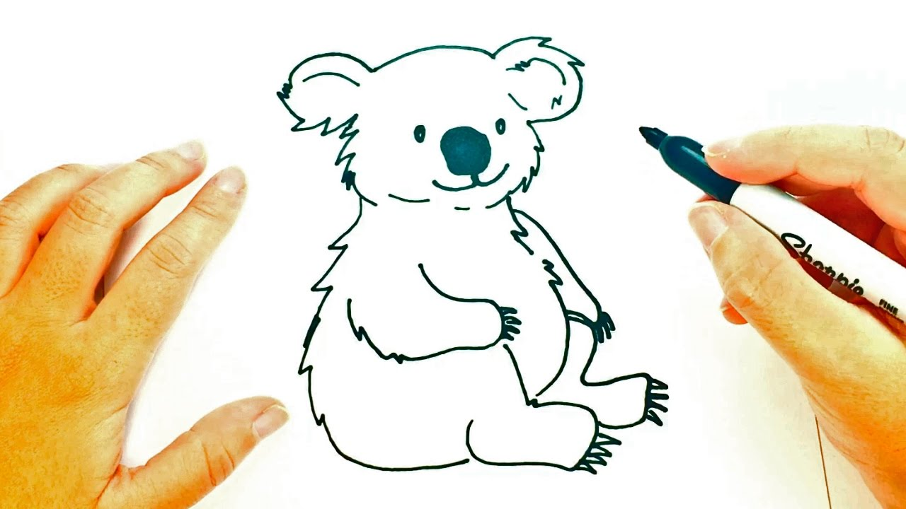 how to draw a koala step by step koala easy draw tutorial youtube