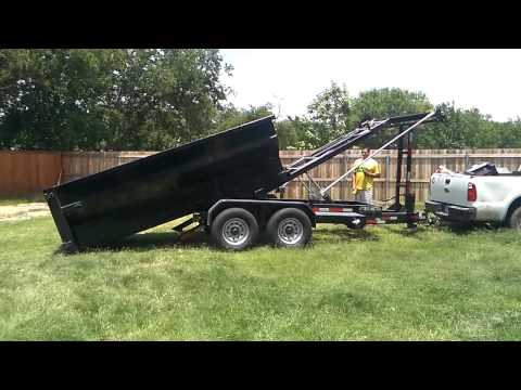 How a 12 yard dumpster rental container demonstration and cost $300