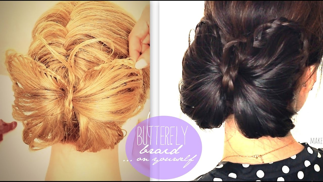 butterfly braid tutorial cute bun holiday hairstyles for medium butterfly braid tutorial cute bun holiday hairstyles for medium long hair trenzas peinados youtube solutioingenieria Gallery