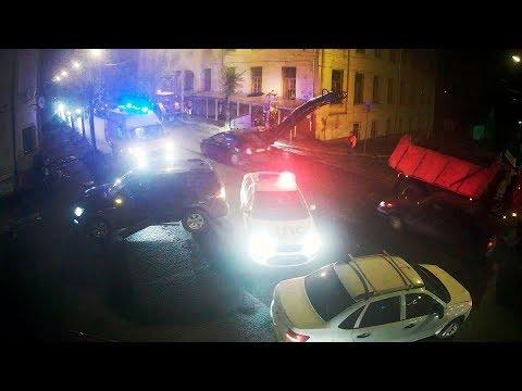 ДТП в Серпухове. Очень эмоциональная авария... (видео со звуком). 06 мая 2018г.