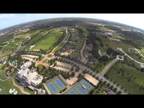 Aerial video of Miramont Country Club & Golf Course in Bryan, Texas