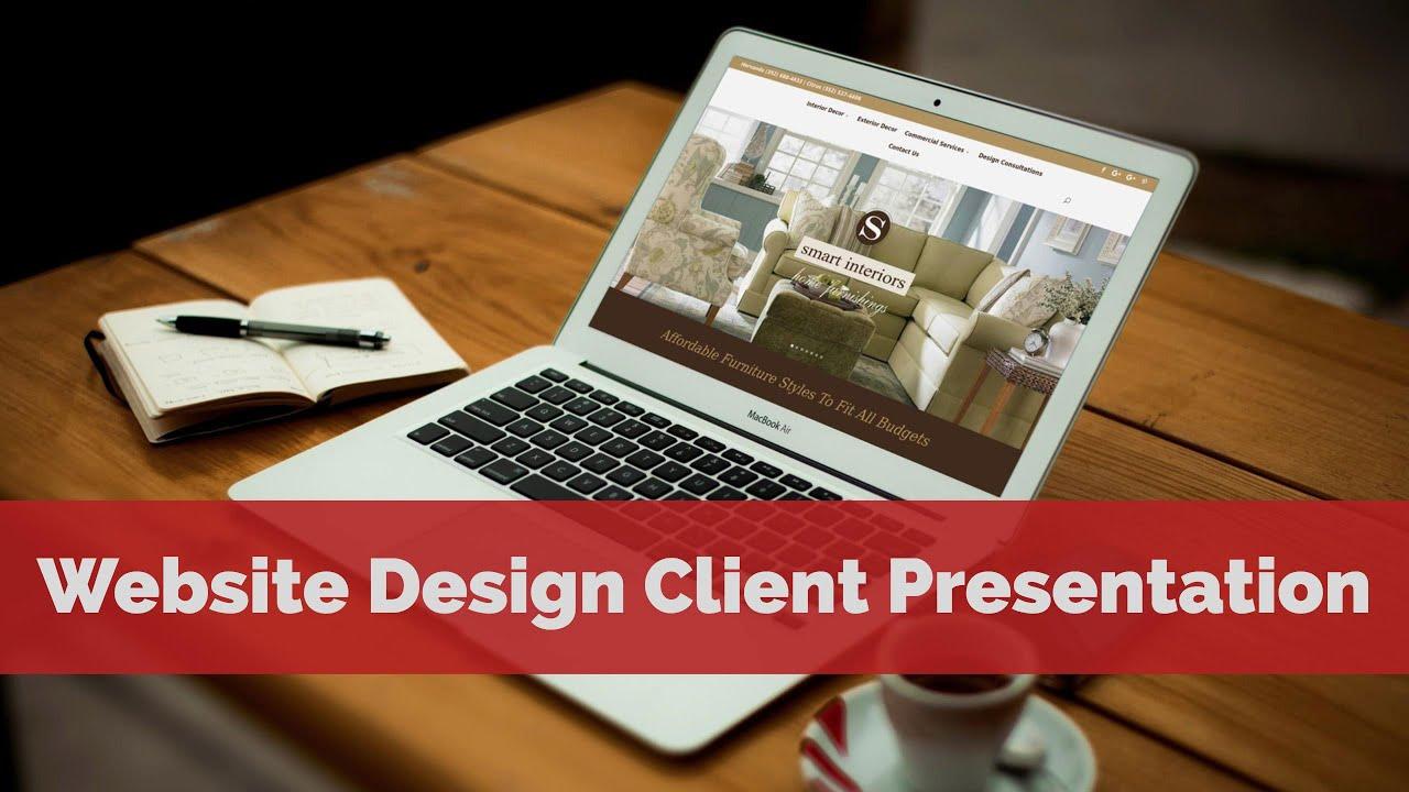 Website Design Client Presentation Furniture Store