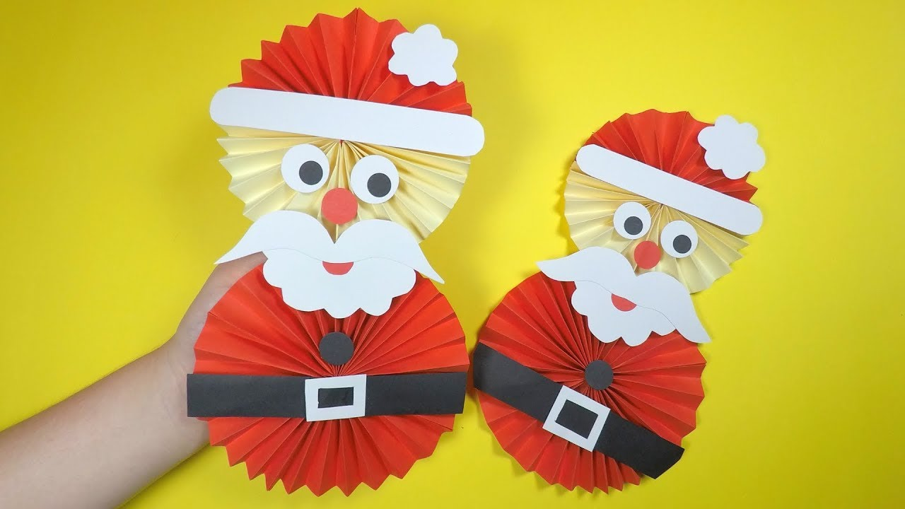 How To Make A Paper Santa Christmas Craft For Kids