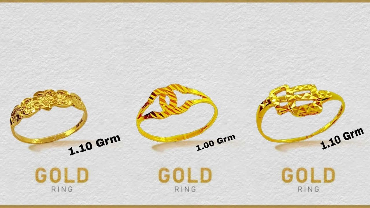 1 Gram Gold Ring 1 Gram Gold Ring Design Youtube
