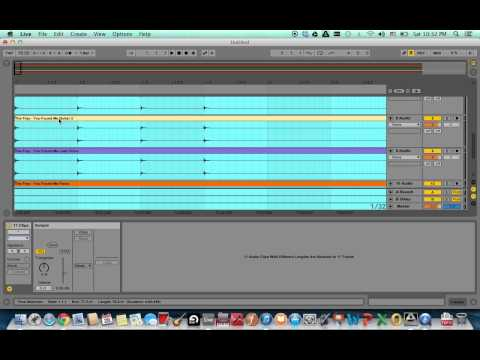Importing MP3 multitrack files and fixing them to the right tempo in Ableton Live
