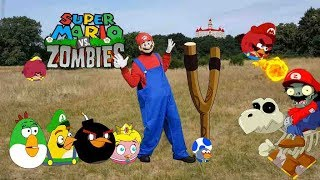 Real Life Mario  And Angry birds Vs Zombies Bowser12345