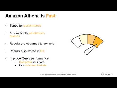 AWS Summit Madrid 2018 - Analítica de datos en segundos con Amazon Athena [Spanish]