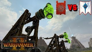 ARTILLERY! YES-YES!! Skaven vs. High Elves Multiplayer Battle | Total War: Warhammer 2