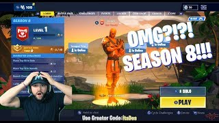 """Reacting to *NEW* """"SEASON 8 TRAILER"""" - BATTLE PASS & PATCH NOTES OVERVIEW!!! -FORTNITE"""