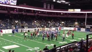 Staged flash mob at Texas revolution IFL game