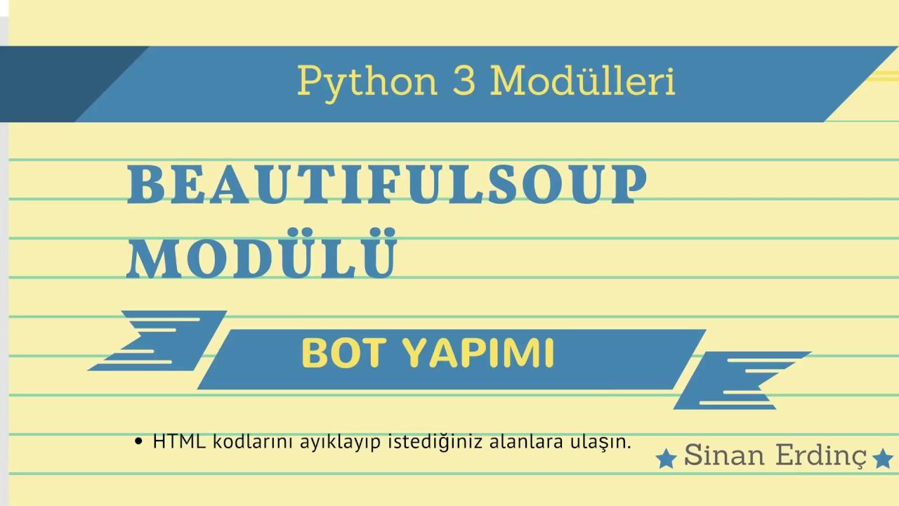 Python Beautifulsoup Module Usage Example 2 Youtube