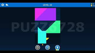 Tangram Block Puzzle - Basic - Beginer - All 50 level walk through screenshot 4