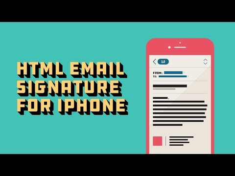 How To Add An HTML Email Signature To Your IPhone & IOS