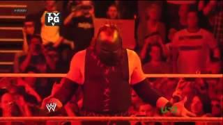 Kane vs Zack Ryder WWE Raw 4.16.12.