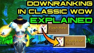 Downranking Spells In Classic WoW: EXPLAINED.
