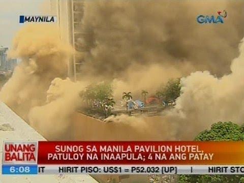 Sunog sa Manila Pavilion Hotel, patuloy na inaapula