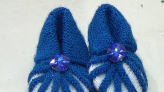 How to make knitting booties for kids. very easy and simple way of making beautiful booties for kids