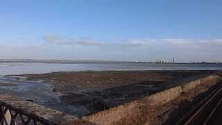 Panorama Ffynnongroew Railway Bridge Flintshire North Wales Sea Hilbre Wirral