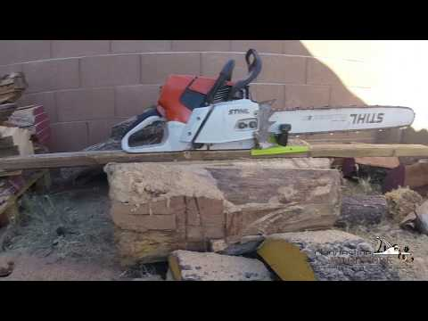 Timber Tuff TMW-56 chainsaw mill, first use. Affordable lumber milling.