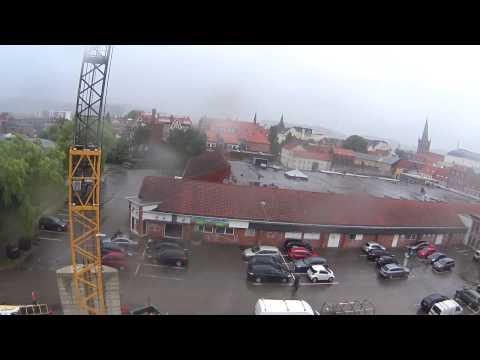 Crane tour over Vejle (LIEBHERR 81K tower crane)
